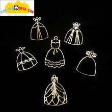 Buy 10pcs Elegant Dress Open Bezels UV Resin Accessories Hollow Frame Princess Skirt Pendant Golden Dresses DIY Jewelry Key Charms for $3.73 in AliExpress store