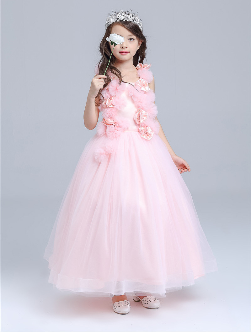 Free Shipping Retail Korea Girl Dresses Children Dress Party  Summer Princess Baby Girl Dresses Wedding Dress Birthday 8506<br>