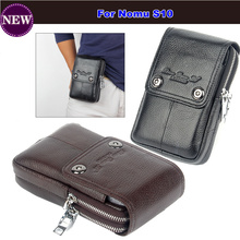 2017 Hot ! Genuine Leather Carry Belt Clip Pouch Waist Purse Case Cover for Nomu S10 Mobile Phone Bag Mobile Cell Phone Bag
