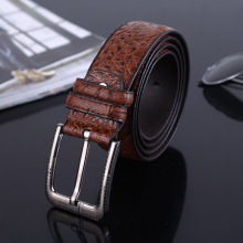 MEN  unisex Ostrich pattern man made leather belt