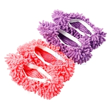 1Pair Mop Slippers Dusting Cleaning Foot Shoes Floor Cover Cleaner  HG2915