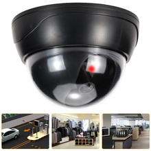 Dummy Security Camera Simulation Dome Fake Camera Red LED Blinking Light CCTV Security System For House Office Market