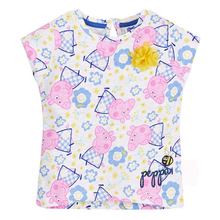 2016 New Girls T-Shirt Kids Tees Baby Girl Brand T shirts Children Tees Short Sleeve 100% Cotton Summer Girl Cartoon T-shirts