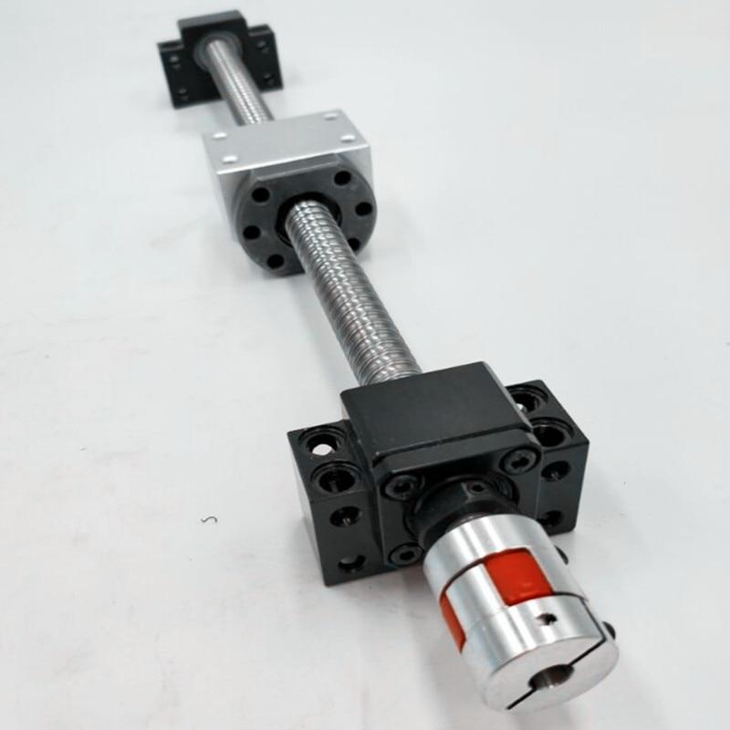 SFU1605 RM1605 Ballscrews L1000mm with ballnut with end machining+1set BK12/BF12+coupler CNC<br>