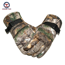 men gloves winter polyester cotton camouflage color mittens outdoor activities soft warm adjustable wrist fleece liningArm sleev(China)