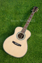 Chinese factory +39 inch OM series acoustic acoustic guitar, AAA grade spruce solid top, you can customize LOGO, free shipping