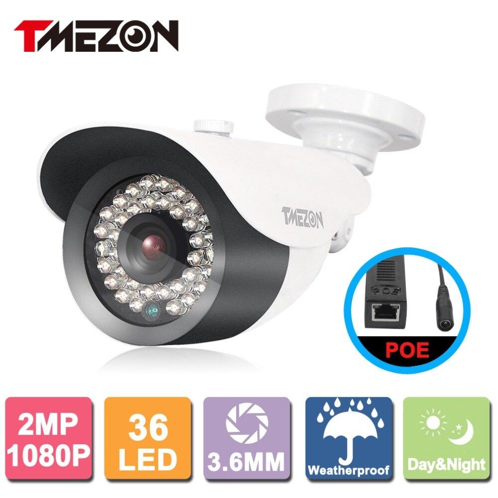 Tmezon POE IP Camera Bullet 1080P 2MP Security Surveillance CCTV System<br>
