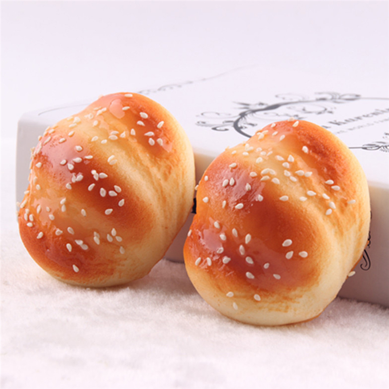8cm x7cm Cute Kawaii Squishy Buns Bread fragrancy Shape Pendant Phone Charm To Phone Smile Marshmallow Bun Deocration