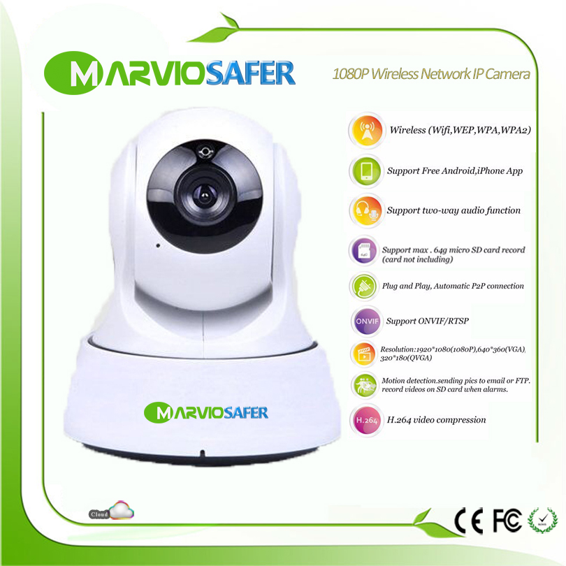Marviosafer 720P/1080P Full HD 2MP High Definition IR Nigh Vision wi-fi IP PTZ network Camera wireless baby monitor Onvif / RTSP<br>