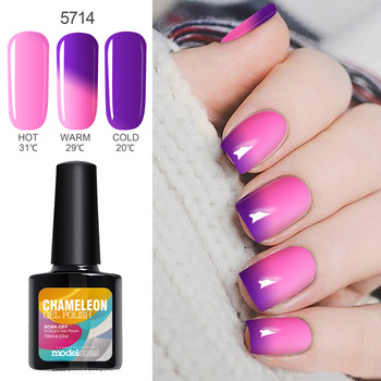 Modelones Hot Sale Temperature UV Gel Polish Nail Art Beauty UV Nail Gel Polish Change Color UV Gel Nail Paint Varnish
