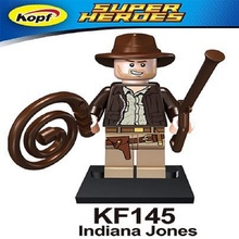 Super Heroes Single Sale Indiana Jones Figures Model Assemble Building Blocks Education Toys For Children Gift KF145