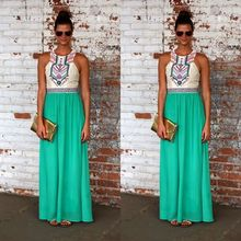European and American Women Dress Sleeveless Chiffon Dress High Quality Summer Dress Maxi Dress