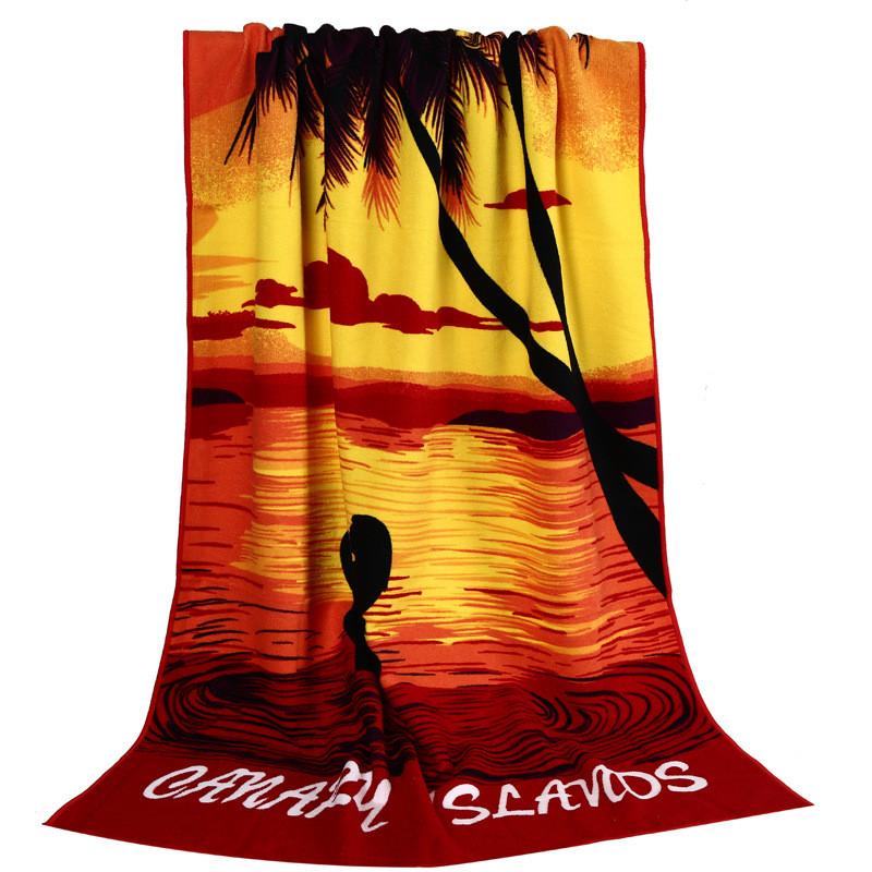 Micro Fiber Printed Beach Towel 140*70cm 26