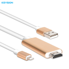 KEYSION 8 Pin to HDMI Adapter Converter For iPhone 5 5S 6 6s 7 plus iPad 4/Mini/Air MHL to HDMI 1080P HDTV Adapter AV Cables(China)