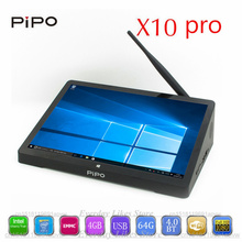 PIPO X10 pro TV Box 10.8 inch IPS Computer Windows 10&Andriod 5.1 Intel Cherrytrail Z8350 1.44GHz WiFi HDMI Set top Box tv TVbox