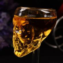 2017 Hot Sale 75ml Skull Glass Stein Beer Glass Head Vodka Whiskey Shot Drinking Popular Design Party