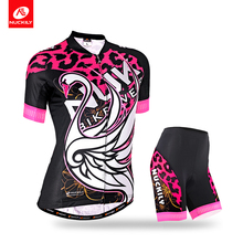 Nuckily Summer Women's Hot selling newest design custom made cheap coolmax  cycling  jersey  GA009GB009