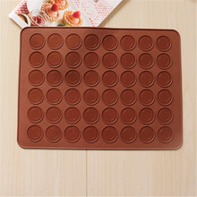 Pastry Tools Large Size 48 Holes Macaron Silicone Baking Mat Cake , Christmas Bakeware, Muffin Mold/decorating Tips Tools D659(China)