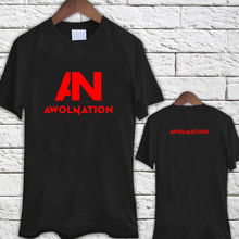 100% Cotton Letter Printed T Shirts Men'S O-Neck Awolnation An Electronic Logo Black Tee Shirt Short Sleeve Best Friend Shirts