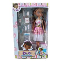 "Cute Toddler Kids Girls Metoo Doll Toys 10"" Cartoon Doc McStuffins Clinic Set Figure Toy Doll Barbie Toys for Children Girls"