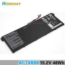 Honghay AC14B8K ноутбука Батарея для ACER Aspire V3-111P CB3-111 CB5-311 B115P NE512 V3-371 V3-111 ES1-711 4ICP5/57/80 Chromebook(China)
