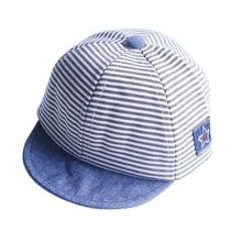 2017 Summer Fashion Cute Baby Striped Hat Cotton Blend Baby Boy Cap Adjustable Infant Hats for Girls 6-18M