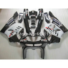 ABS Motorcycle parts for Kawasaki ZX6R fairing kit 1994-1997 Ninja 636 ZX 6R 94 95 96 97 white black West fairings set EF16