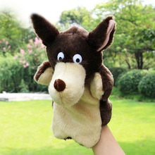 New Kids Lovely Animal Plush Hand Puppets Childhood Soft Toy Wolf Shape Story Pretend Playing Dolls Gift For Children(China)