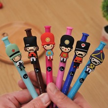 4pc/ lot  British soldiers body soft ballpoint pen / 0.5mm/cute fashion cartoon ball pen/creative stationery