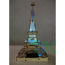 Hot Selling 3D wooden Paris Eiffel Tower Figurine Statue Model Home Decors Souvenir Environmental Solar models creative gift(China)