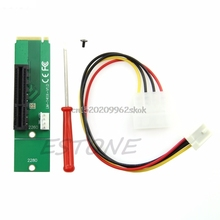 PCI-E 4X Female to NGFF M.2 M Key Male Adapter Power Cable with Converter Card #H029#