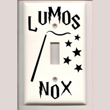Harry Potter Lumos Nox Light Switch Cover Vinyl Decal Stickers Home Decor A1000(China)