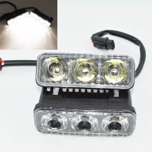 Universal car light assembly 2Pcs LED DRL Daytime Running Lights Work Lamps Car Styling Light Source Waterproof Fog Lamp For SUV