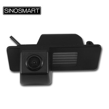 SINOSMART In Stock High Quality Car Rear View Parking Camera for Cadillac CTS XTS SRX with Black Plastic Number Plate Lampshade