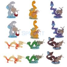 Plastic Dragon Model Figures Kids Party Bag Filler Favour Toys 12pcs