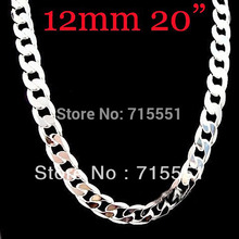 12MM Cool Rock Men Necklaces Promotion sale, Hot New Items Men's Jewelry High Quality 925 Sterling Silver Chain Necklace(China)