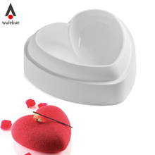 Wulekue Silicone Love Heart 3d Cake Mold Amore Baking Pastry Molds Chocolate Mousse Mould Cake decorating Tools bakeware Pan