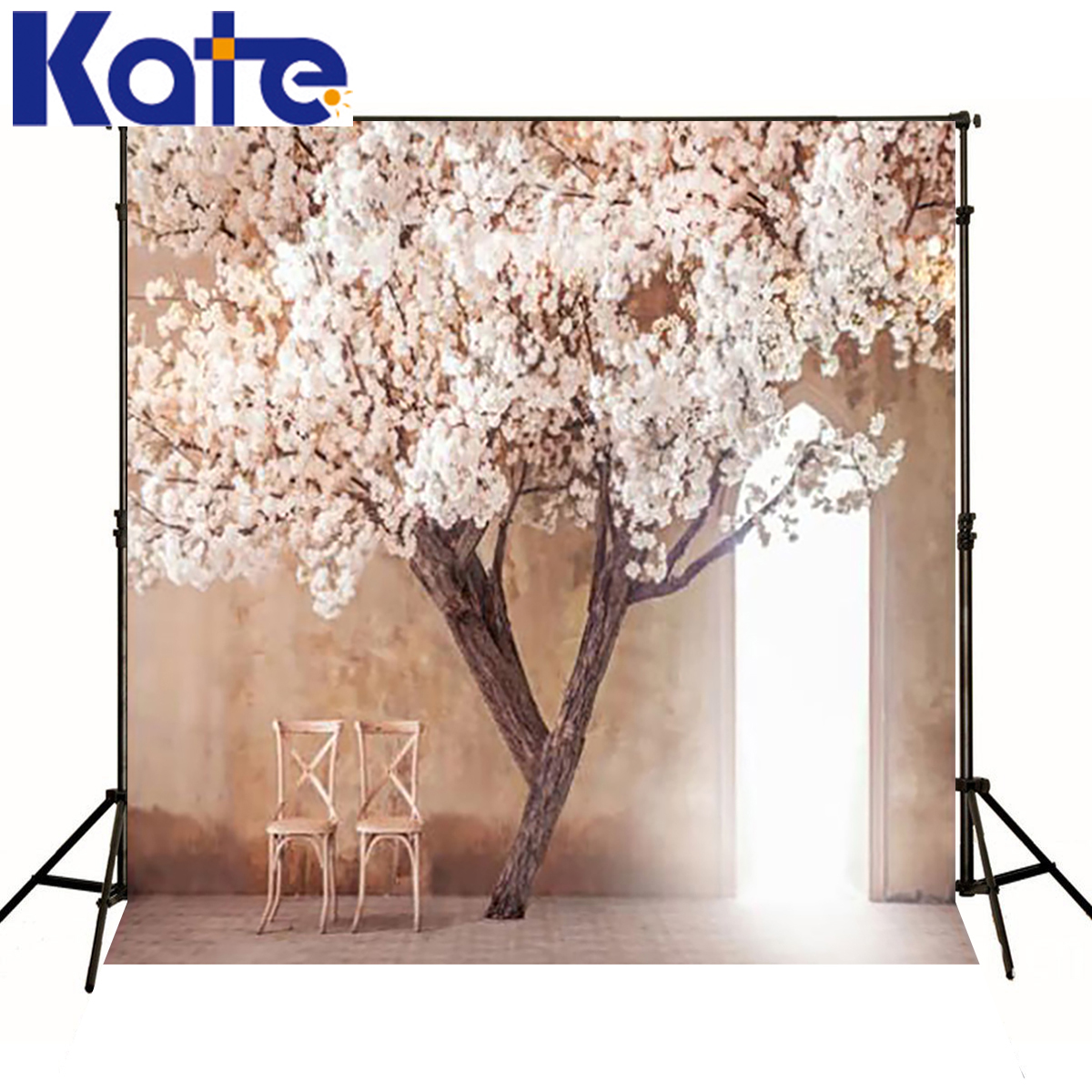 Kate 8x8ft Indoor Wedding Room Backdrops Solid WhiteWood Floor Wedding Photography Background for fondos de estudio fotografia<br>