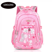 High Quality Ultra-Light Waterproof Child School Bag Lovely Children Backpack Polyester Girls Backpack For Grade 1-6 knapsack(China)