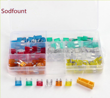 120pcs Small Size Low Profile Blade Type Fuses Assortment Set Auto Car Truck insurance piece kit(China)