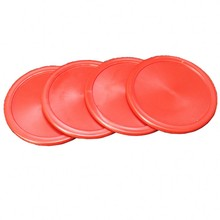 20 pcs Red Air Hockey Pucks 63.8mm Felt Pusher Mallet Goalies wholesale price(China)