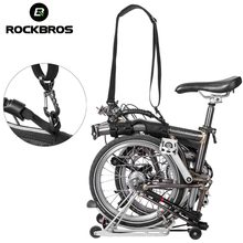 ROCKBROS Brompton Shoulder Strap Child Bicycle Folding Bikes Frame Carry Handle With Hardware Bikes Kick Scooter Carrying Strap(China)