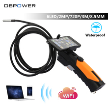 DBPOWER Wireless Endoscope WIFI 720P Surveillance Snake Camera 2.0 Mega Pixels 1M/3M Cable 8.5mm 6 LED Borescope for Android IOS(China)