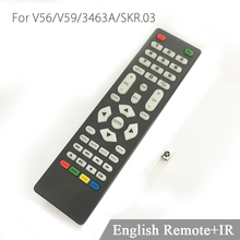 For V56/V59/SKR.03 Universal Remote Control with IR receiver for LCD Driver Control board only use for V59 V56 3463A DVB-T(China)