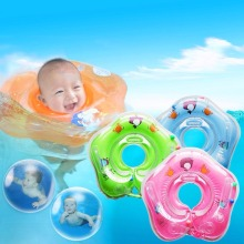 B Cartoon Infant Swimming Neck Ring Safety Adjustable Inflatable Baby Swimming Pool Neck  Free shipping