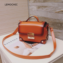 LEMOCHIC fashion shopping messenger bags suitable for lady young people office worker simple small crossbody summer flap handbag