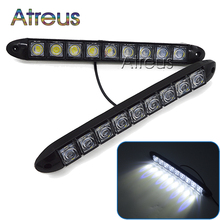 Atreus 1Pair Car DRL LED Daytime Running Lights Lamp 12V 9 LED For Mazda 3 6 2 CX-5 Seat Leon Chevrolet Cruze Opel accessories(China)