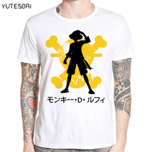 Latest Men t shirt ONE PIECE brand clothing Monkey D. Luffy image Tee Shirt Fashion Men Magazine Short Sleeve Print T shirts Men