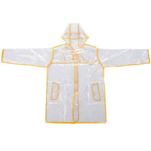 Women Lady Unisex Man Transparent Poncho Hoodie Waterproof Coat Jacket Windbreaker Raincoat Rainwear Black/Yellow/Red/Purple(China)