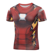 T Shirt Captain America Civil War Tee 3D Printed T-shirts Men iron man Fitness Clothing Male Crossfit Tops Compression - HOWL LOFTY franchise store Store
